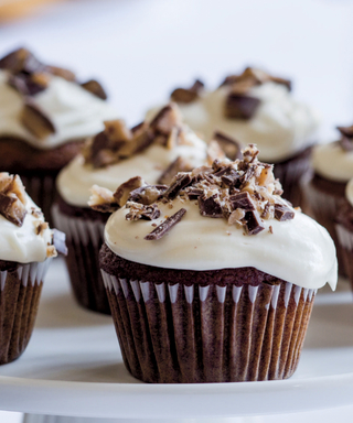 Ina Garten Pumpkin Spice Cupcakes with maple Frosting