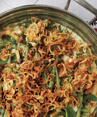 This Green Bean Casserole with Mushrooms and Crispy Shallots Makes Eating Vegetables Fun