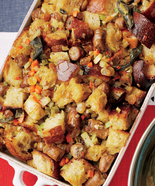 Dinner Recipe: Hearty Sausage Stuffing with Caramelized Leeks and Sage