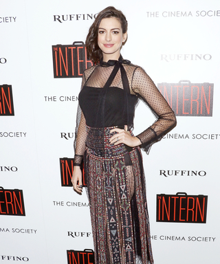 Anne Hathaway Smolders in a Skin-Revealing Ensemble at a Screening for The Intern