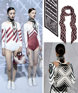 Shop the #LFW Snapshot: Anya Hindmarch's Graphic Scarf