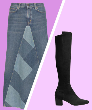 Perfect Pairing: Denim Midiskirts and Suede Boots