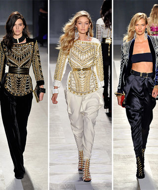 See Kendall Jenner, Gigi Hadid, and Karlie Kloss Walk the Balmain x H&M Runway Show