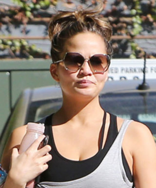 Chrissy TeigenShows Off Her Baby Bump During a Workoutwith Hubby John Legend