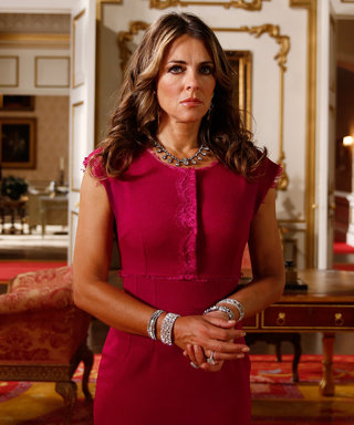Elizabeth Hurley Is Dripping in Diamonds on Season 2 of The Royals
