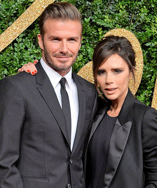 David and Victoria Beckham Coordinate in Matching Suits on the Red Carpet