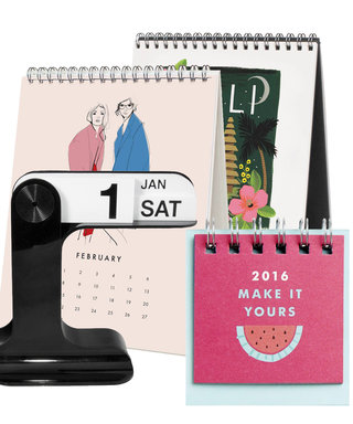 9 Desktop Calendars for 2016 That Are Actually Chic
