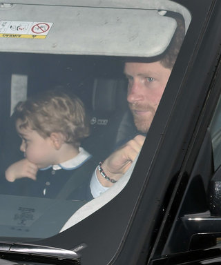 """Prince George–and His Golden Curls!–Heads to Buckingham Palace with Mom Kate and Princess Charlotte as Prince William Attends """"Personal"""" Event"""