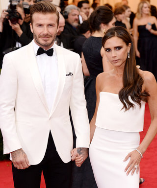 """NEW YORK, NY - MAY 05:  David Beckham and Victoria Beckham attend the """"Charles James: Beyond Fashion"""" Costume Institute Gala held at the Metropolitan Museum of Art on May 5, 2014 in New York City.  (Photo by Karwai Tang/FilmMagic)"""
