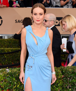 Brie Larson Swapped Out Her Heels for Portable Flats at the SAG Awards After-Party