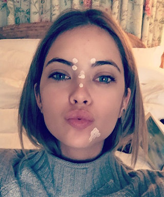 See Your Favorite Stars Pose in Zit Cream and Face Mask Selfies