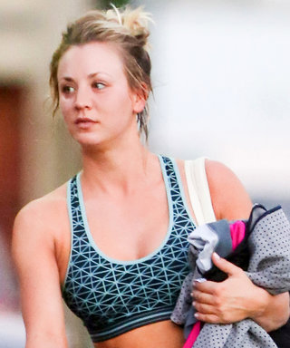 Kaley Cuoco Shows Off Her Washboard Abs in a Sports Bra After Yoga Class