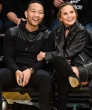 John Legend and Chrissy Teigen Pack on the PDA at L.A. Lakers Game