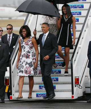 The Obamas Tour Rainy Havana on Their Milestone Trip to Cuba
