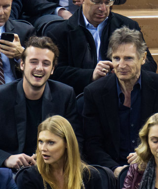 Liam Neeson and His Super Cute Sons Attend a Rangers Game