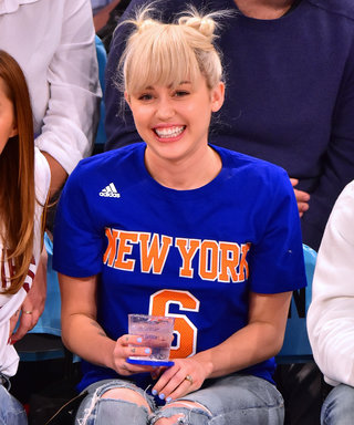 Miley Cyrus Shows Off Her Sparkly Engagement Ring at a Knicks Game with Her Family
