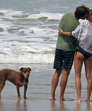 Gisele Bündchen and Tom Brady Pack on the PDA During Beach Getaway