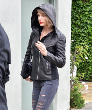 Taylor Swift Braves the Rainy Los Angeles Weather in an Edgy All-Black Look