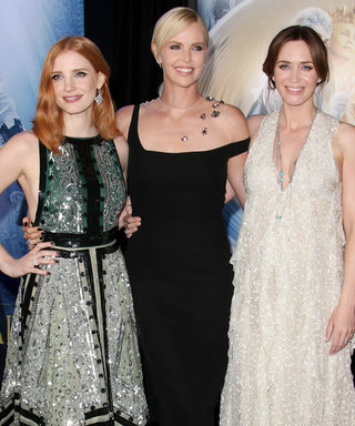 Jessica Chastain, Charlize Theron, Emily Blunt, and the Cast of The Huntsman Wow at the Film's L.A. Premiere