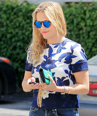 Reese Witherspoon Steps Into Spring with Kick Flare Jeans