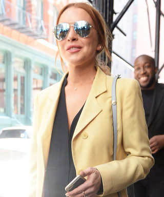 Lindsay Lohan Shows Off Some Serious Bling on the Streets of N.Y.C.