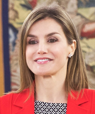 Queen Letizia Rocks Culottes for a Day at Work