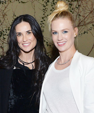 Demi Moore and January Jones Are the Ultimate Roger Vivier Admirers at an Intimate Dinner in L.A.