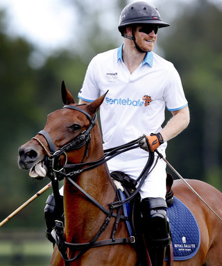 Prince Harry Braves the Rain for a Charity Polo Match in Florida