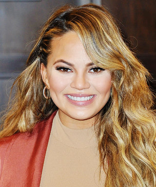 Chrissy Teigen Juggles Working and Breastfeeding on the Set of a Photo Shoot