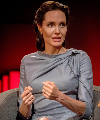 Angelina Jolie's Chic Gray Dress Is the Perfect Interview Outfit Inspiration