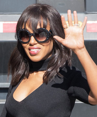 Kerry Washington Shows Off Her Baby Bump in a Chic All-Black Look