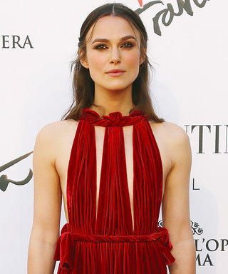 New Mom Keira Knightley Turns Up the Heat in a Cut-Out Red Gown