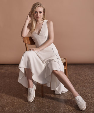 See Dakota Fanning's Stunning Portrait in Support of Tod's and Gabriela Hearst's New Charitable Brogue