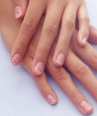 Nail Art Know How: Peach Raindrops