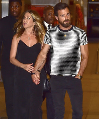 Jennifer Aniston Steps Out in a Chic Black Jumpsuit for N.Y.C. Date Night with Justin Theroux