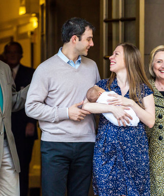 Chelsea Clinton Joined By Parents Bill and Hillary While Leaving Hospital with Newborn Son Aidan