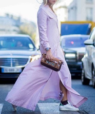 PARIS, FRANCE - OCTOBER 2: Nina Suess wearing Dior during the Paris Fashion Week Womenswear Spring/Summer 2016 on October 2, 2015 in Paris, France.  (Photo by Christian Vierig/Getty Images)