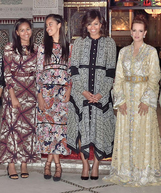 Michelle, Malia, and Sasha Obama Take on Moroccan-Inspired Dressing in Marrakech