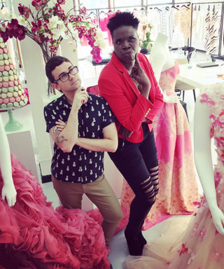 Leslie Jones and Christian Siriano Have the Best Time Working on Her Ghostbusters Premiere Dress
