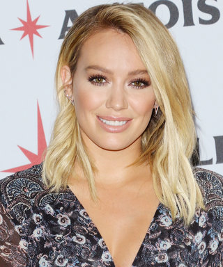 Hilary Duff Steps Out in the Edgiest Floral Dress We've Ever Seen