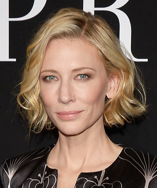 Cate Blanchett Epitomizes Movie Star Glam in a Graphic Jumpsuit at Armani Privé's Couture Show