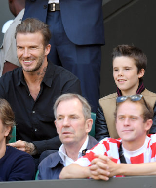 David Beckham and Sons Romeo and Cruz Take in a Day of Tennis at Wimbledon