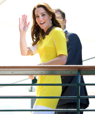 Kate Middleton Makes a Sunny Appearance at Wimbledon in a Recycled Yellow Roksanda Dress