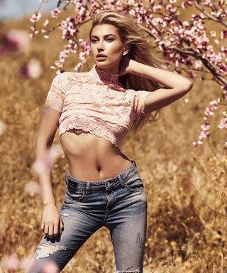 Hailey Baldwin Gives Denim a Sultry Spin in Guess's Fall 2016 Campaign