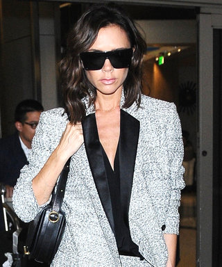 Victoria Beckham Steps Out at the Airport in One Fierce Summer Suit