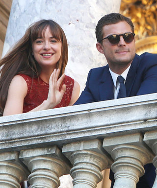 Dakota Johnson and Jamie Dornan Wave to Fans While Filming Fifty Shades Sequel Following Nice Attacks