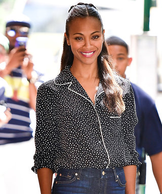 Zoë Saldana Offers Two Ways to Style Your PJs During the Day