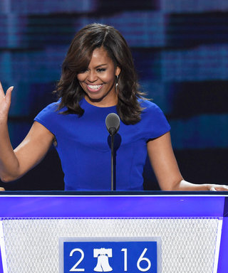 Michelle Obama Delivers Impassioned Democratic National Convention Speech in Royal Blue Christian Siriano Dress