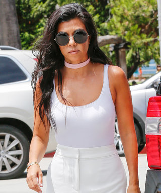 Kourtney Kardashian and Scott Disick Color-Coordinate for a Day at the Races