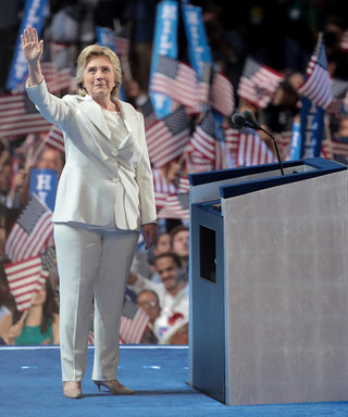 Hillary Clinton Becomes the Democratic Presidential Nominee in a Crisp All-White Pantsuit